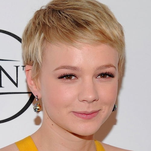 Carey Mulligan Short Pixie Cut Hairstyles.
