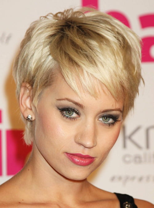 Short hairstyles for thick hair 2012