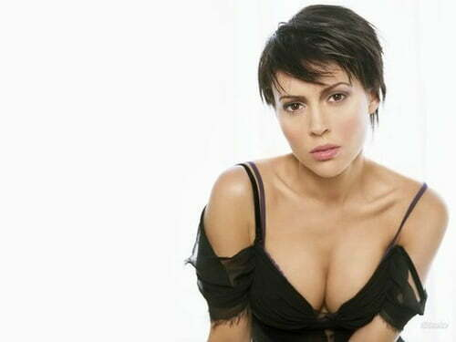 Alyssa Milano Celebrity Short Pixie Hair Cuts