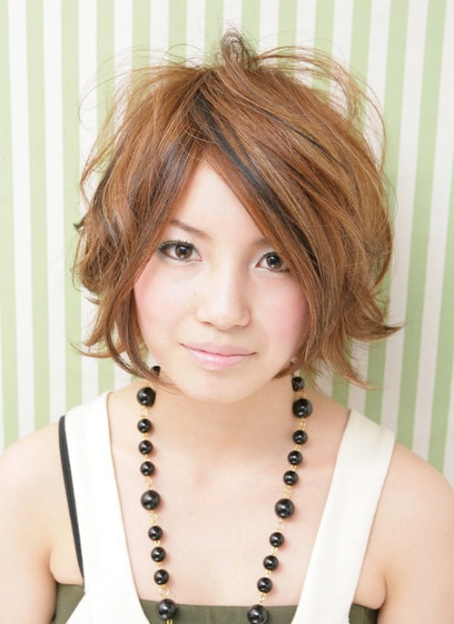 Short Asian Bob Hairstyle for Teenage 2012