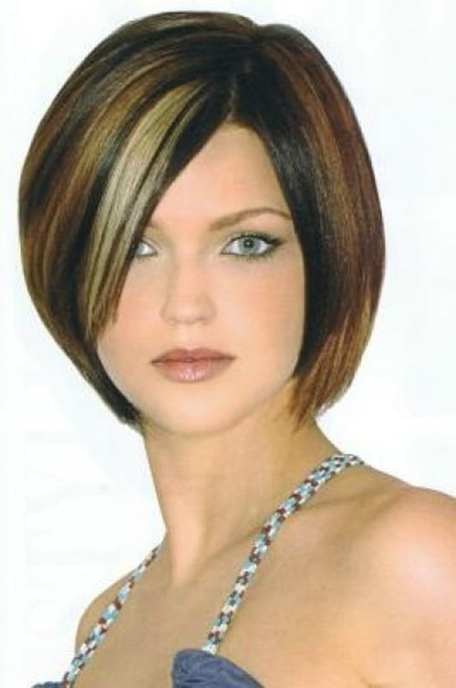 Original Cute Short Bob Hairstyle  Side Parted Short Bob Haircut For Women