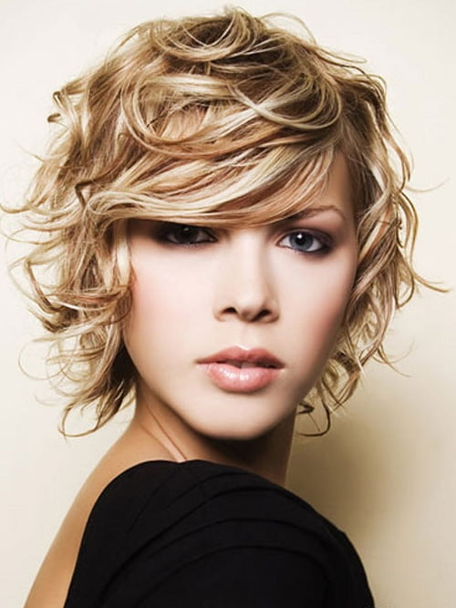 Short Curly Blonde Hairstyles 2012