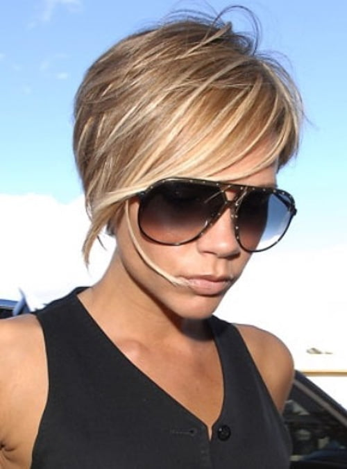 Victoria Beckham Short Haircut 2012