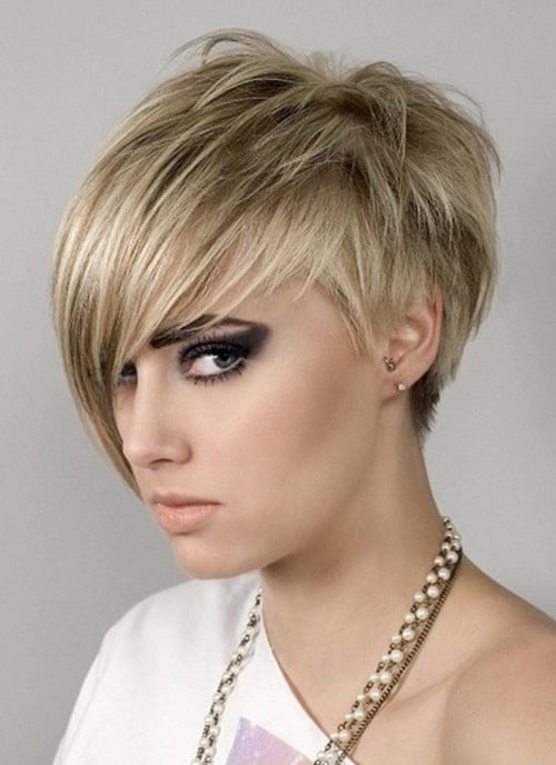 Short Haircuts With Bangs 2012 for Women