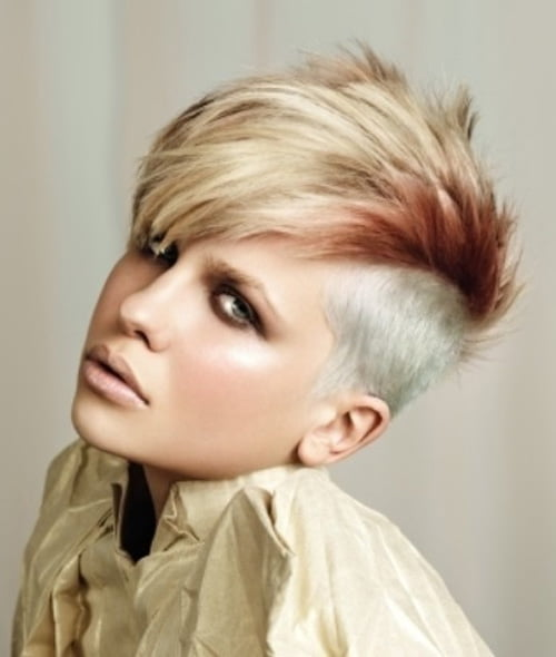 Short Faux Hawk hairstyle is getting trendier everyday among the women ...