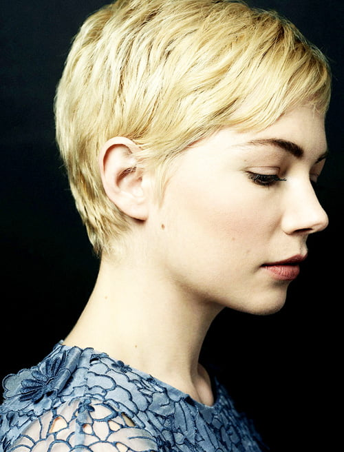Michelle Williams Short Pixie Haircuts 2013