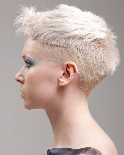 Beautiful Very Short Haired Girl