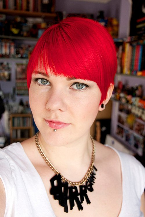2013 Short Red Haircuts for Women