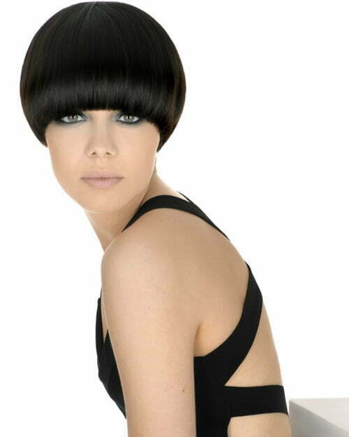 Black Color For Short Hairstyle 2013