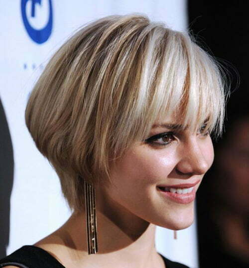 Swell Short Bob Hairstyles With Fringe Best Hairstyles 2017 Short Hairstyles Gunalazisus