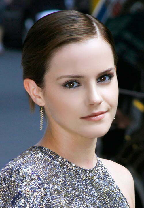 Emma Watson Short Straight Haircut 2012