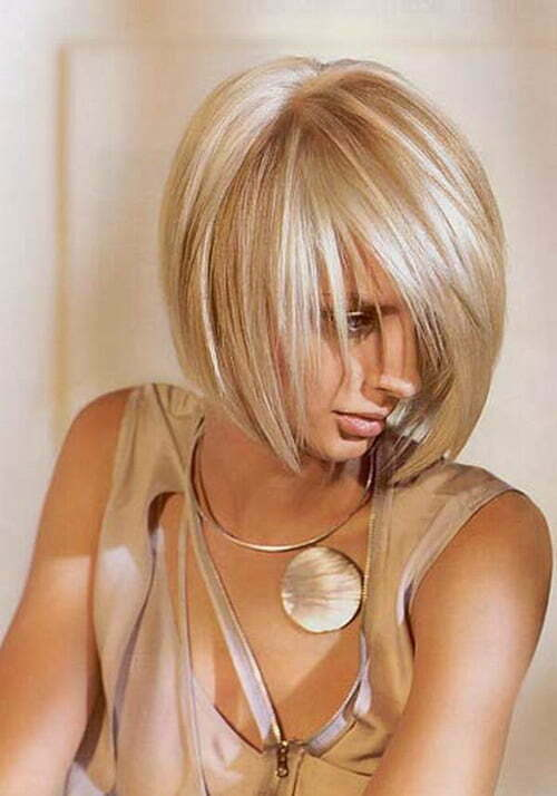 Gorgeous short bob haircuts with bangs 2013