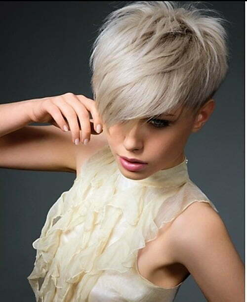 Short Haircuts With Long Bangs Short Hairstyles