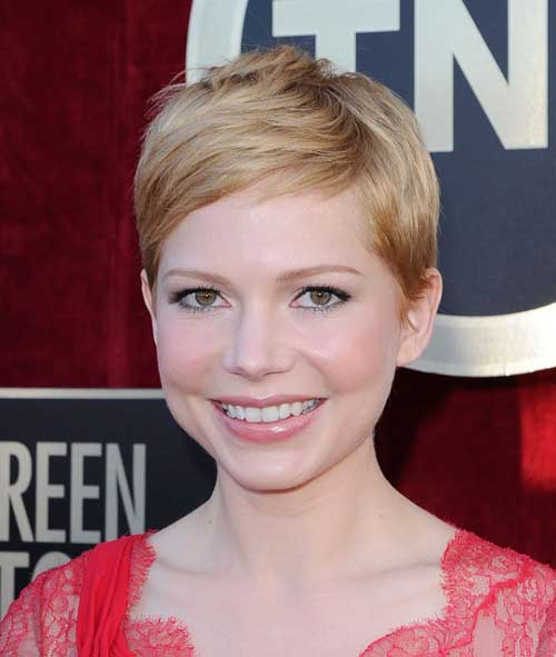 Michelle Williams Short Pixie Hairstyle