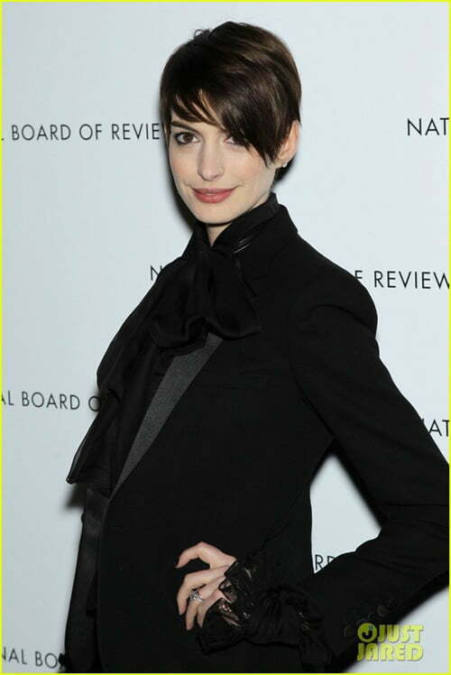 Anne Hathaway New Short Haircut 2013