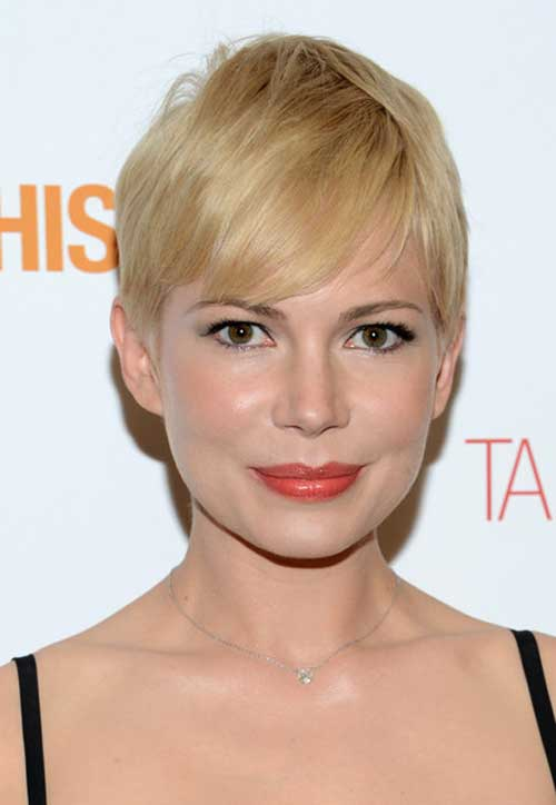 Michelle Williams Pixie Haircut 2013