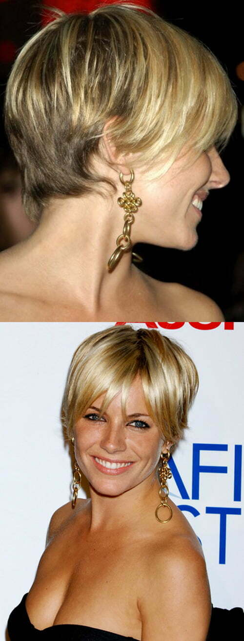 Sienna Miller Short Blonde Hair 2012