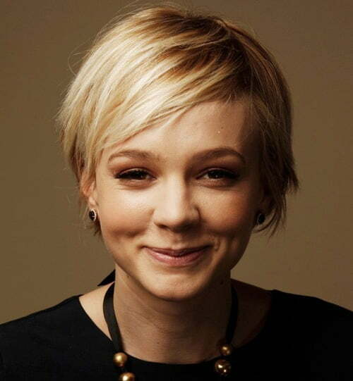 Short Blonde Pixie Haircut from Carey Mulligan