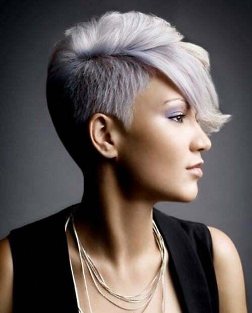 Cute Short Purple Hair Styles