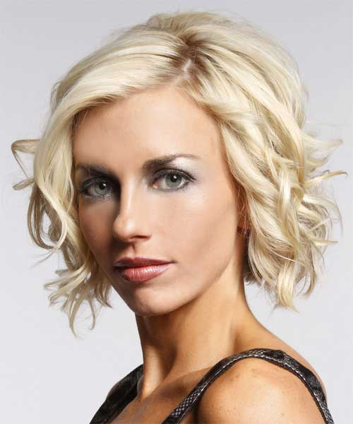 Short blonde wavy haircuts 2012