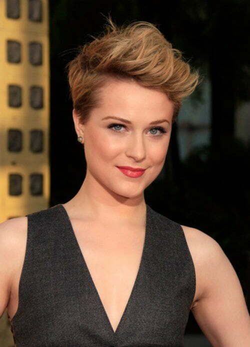 Short choppy haircuts for women from Evan Rachel Wood