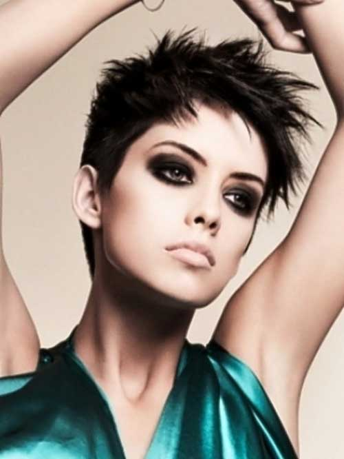 Short layered pixie hairstyles 2013.