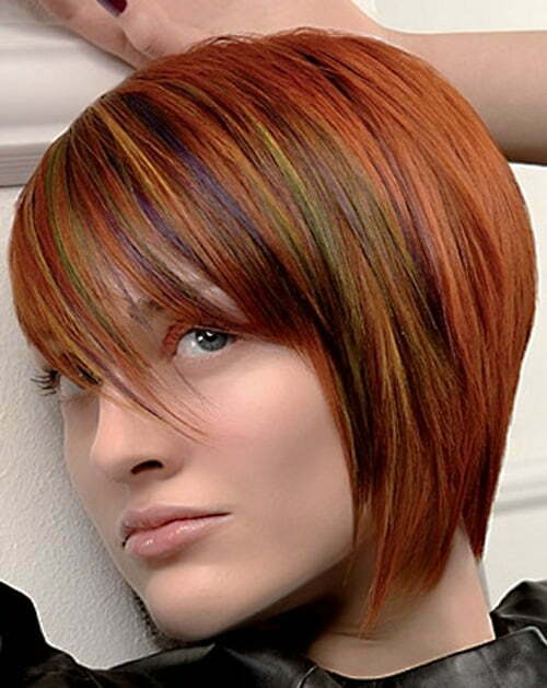 Short colorful hairstyles for women 2013