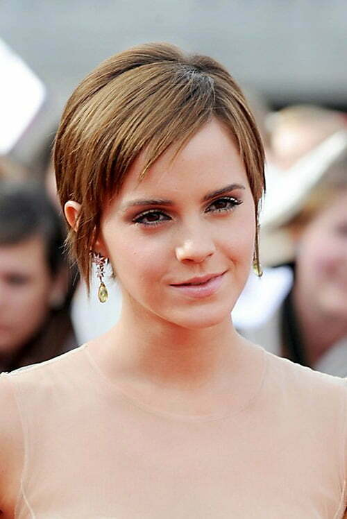 Emma Watson Cute Short Haircut with Bangs