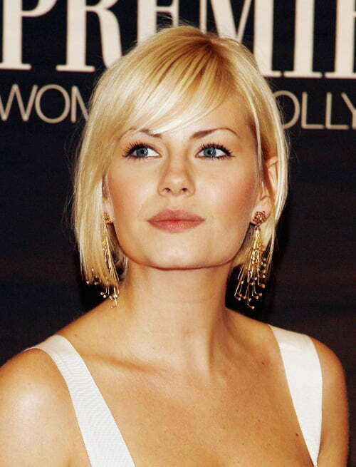Kirsten Dunst is one of the fans of short haircuts with bangs and uses ...