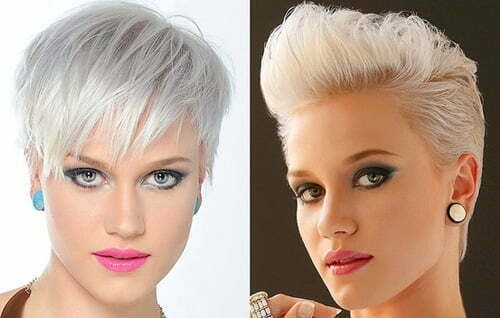 Trendy hairstyles for short blonde hair women
