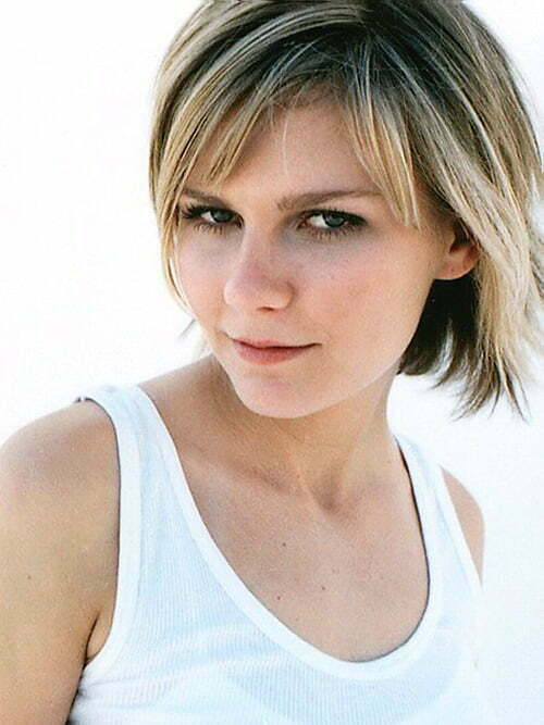 Kirsten Dunst short haircut with bangs