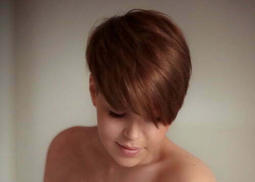 Cute short layered haircuts with bangs