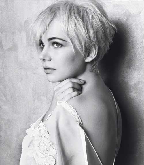 Michelle Williams Pixie Cut Haircut Pictures