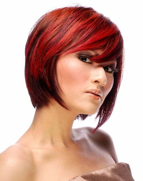 Modern short red hair color women 2013