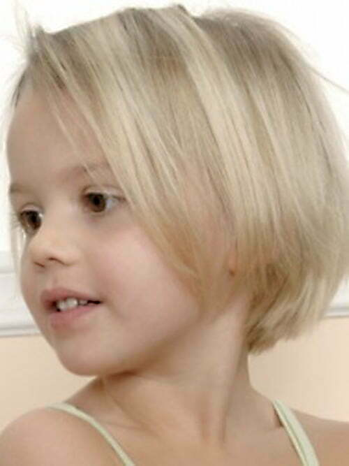 Cute short bob haircuts for little girls