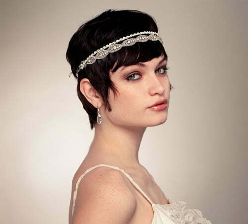 Hairstyles for short curly hair for weddings