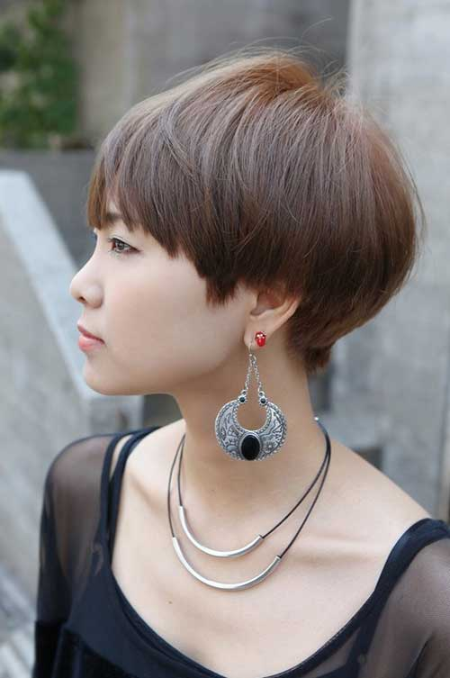 Cute short haircut with bangs 2013