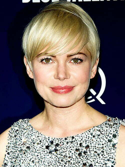 Cute short haircuts with side swept bangs