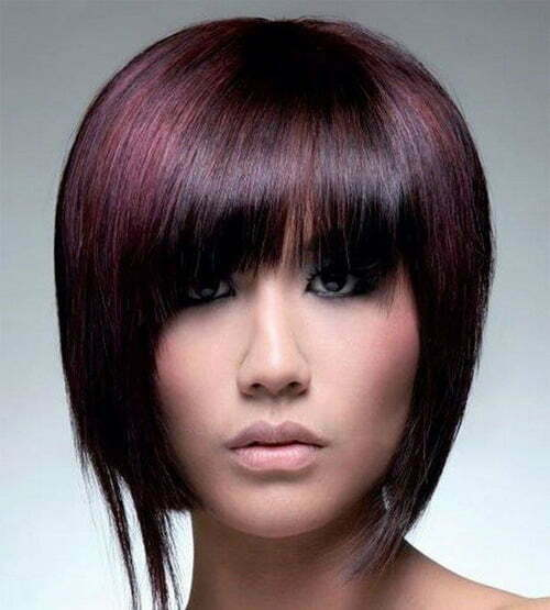 Trendy straight bob haircut for 2013