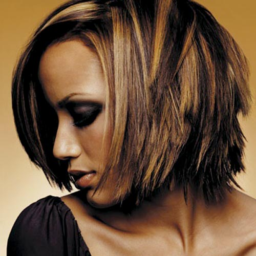 African american short hairstyles and color