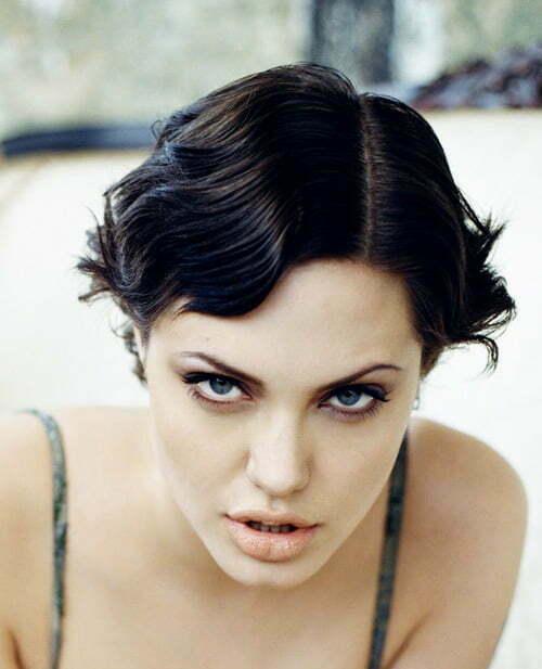 Angelina Jolie Bob Hair Trendy Short Ce...