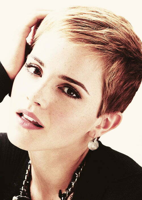 Emma watson short haircut pictures