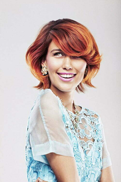 Best hair color wavy short hair