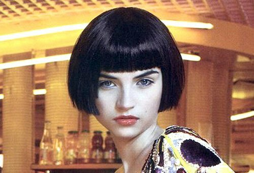 Short bob hairstyles with straight bangs