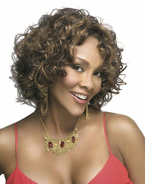 Vivica fox with short curly hair