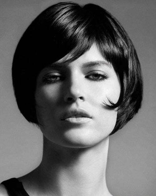 Bob cut with bangs black hair