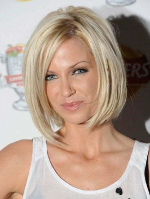 Sarah Harding angled bob haircut