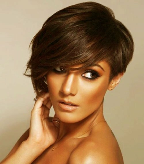 Frankie Sandford short asymmetrical hairstyle