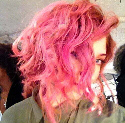 Nicola Roberts pink hair color