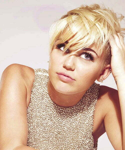 Miley Cyrus pixie haircut photos